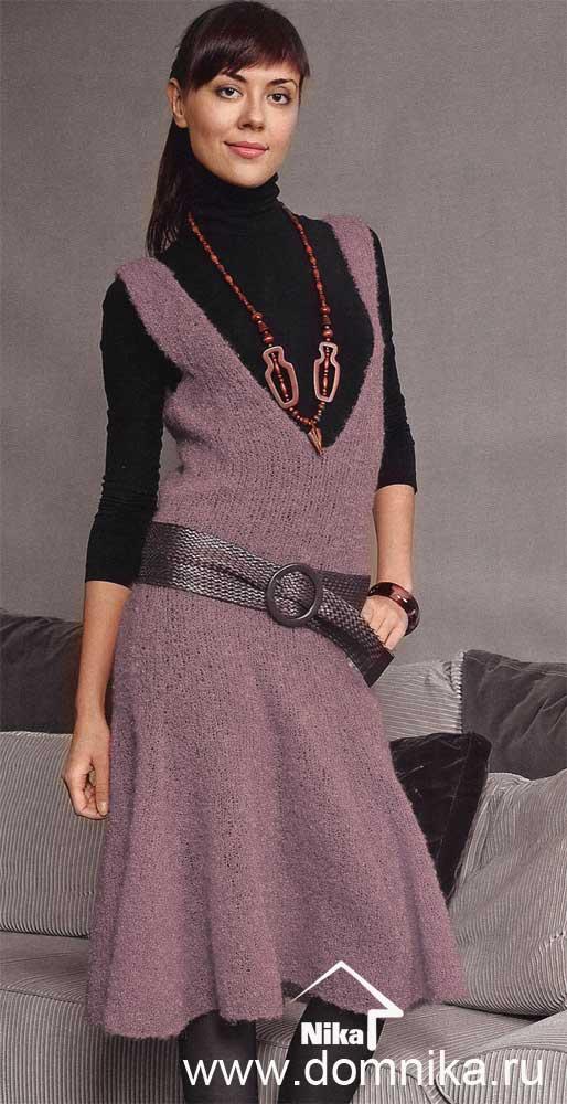 Вязанные модели женской одежды со схемами