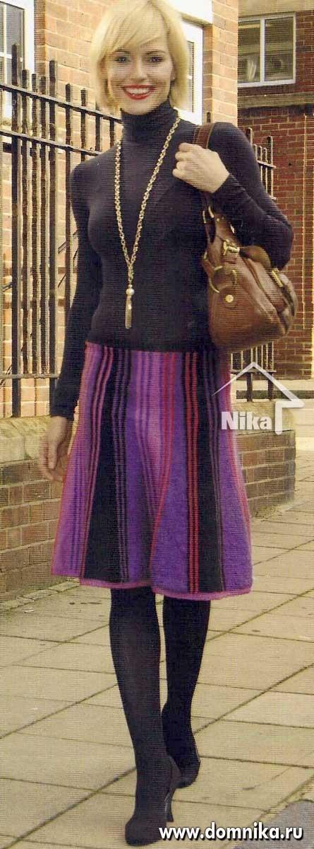 юбки вязанные спицами.