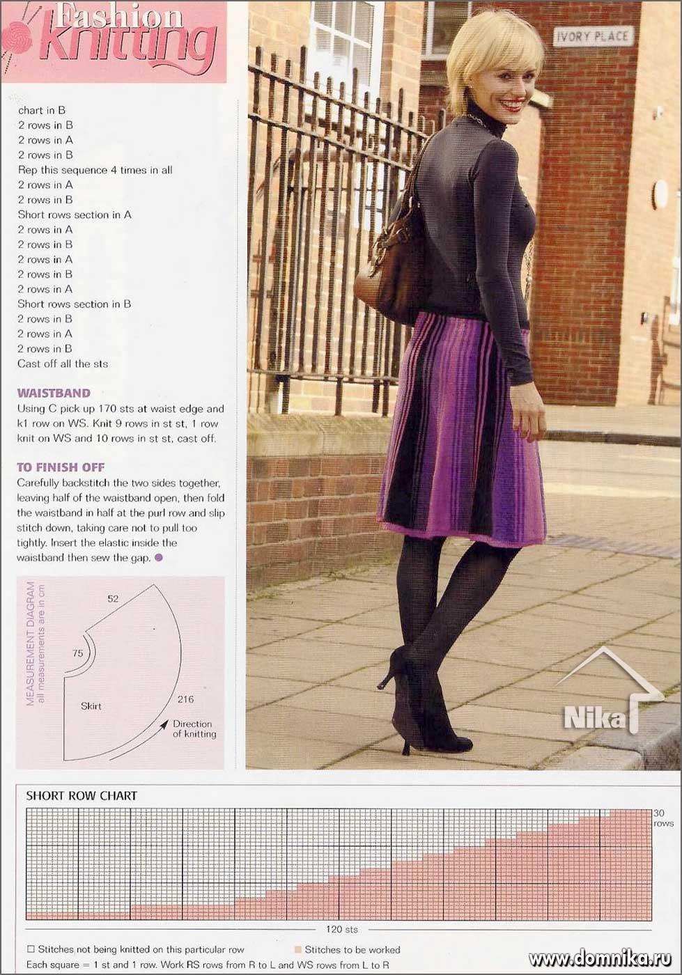 Юбки спицами вязание крючком и спицами схемы и модели