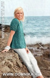 Расклешенный пуловер