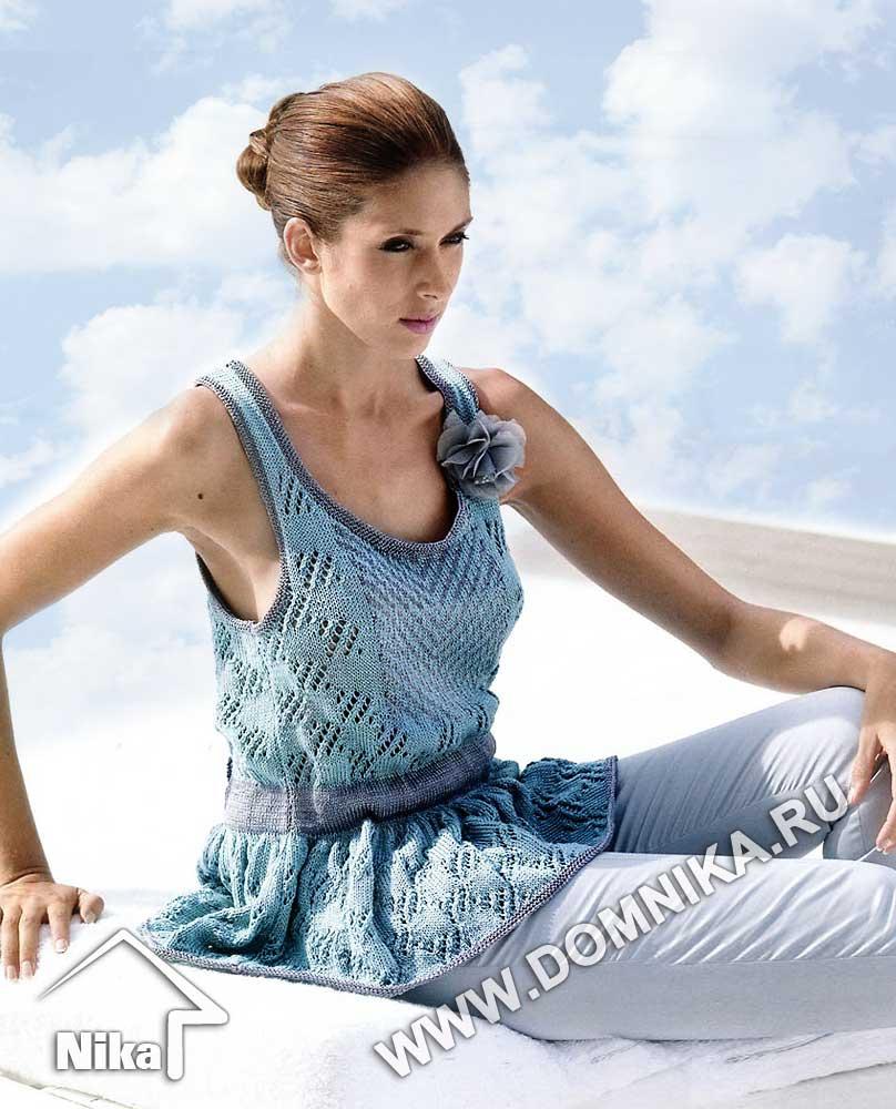 вязание с открытыми плечами спицами со схемами
