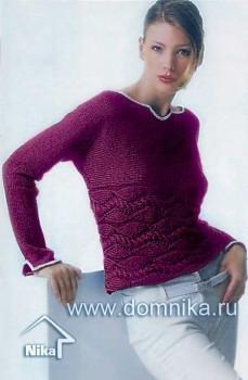 Пуловер в поперечном направлении