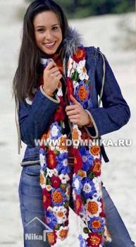 шарф цветы