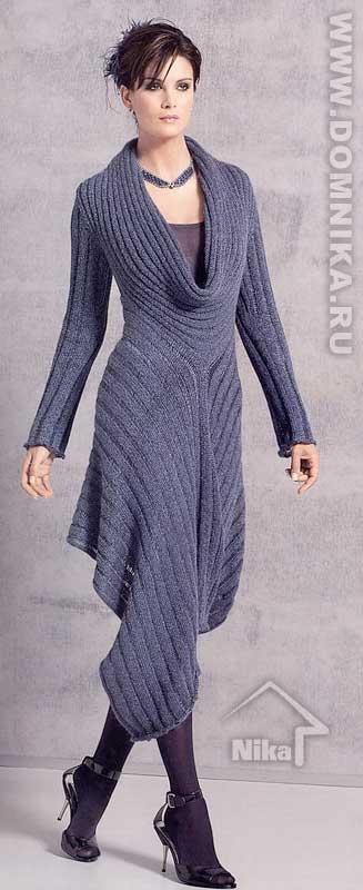 Платье вязаное спицами фото