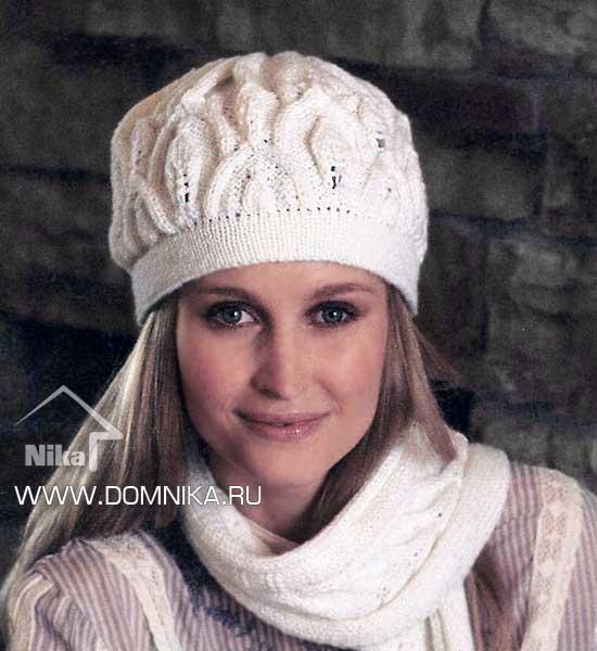 Узоры спицами для шапок: вязание по примеру схем 5