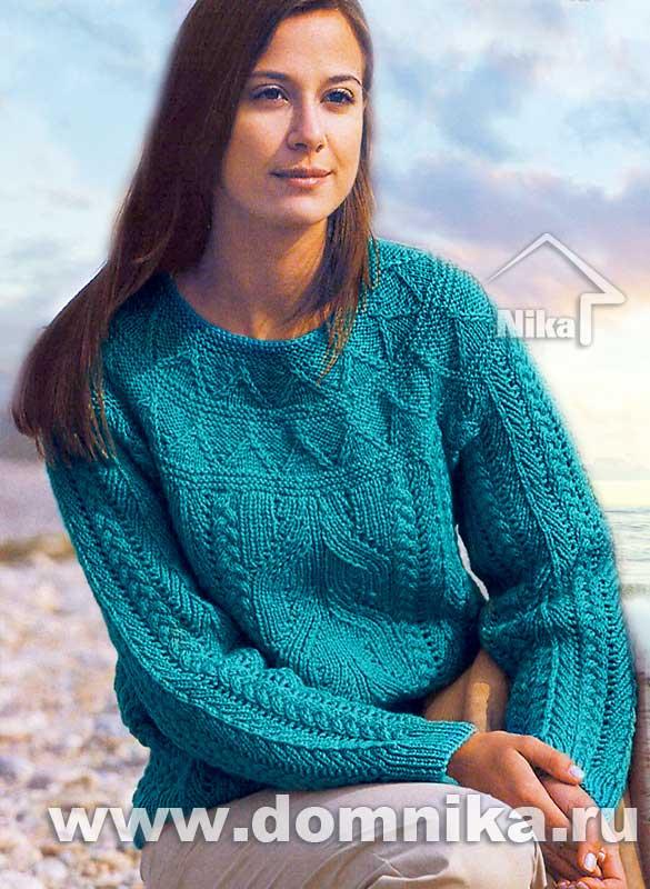 Схемы вязания свитеров спицами косами на Verena.ru