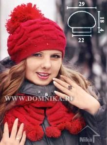 Красная шапка и шарф