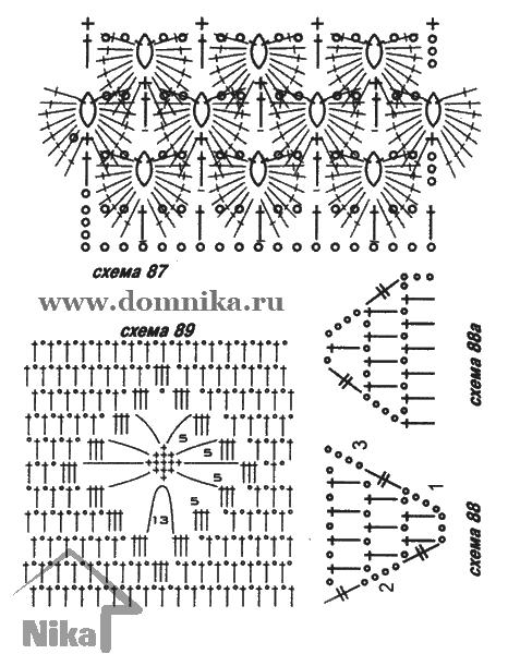 Перчатки вязаные спицами крючком схемы