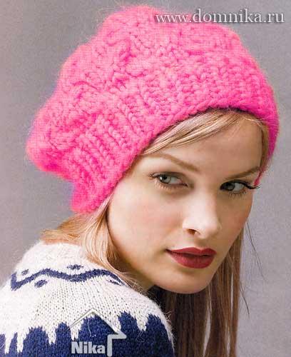 Вязанная зимняя шапка для мальчика фото