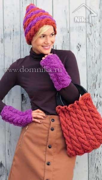 Как красиво закончить вязание спицами шапки, шарфа, носка?