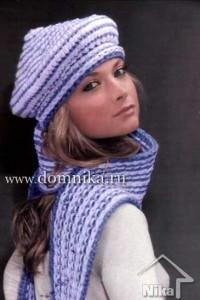 Берет и шарф с вышивкой