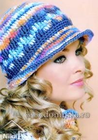 Яркая шапка - котелок