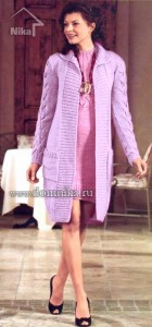 Элегантное сиреневое пальто