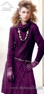 Бордовое платье с аранами