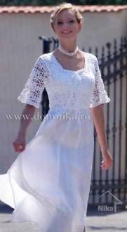 Платье с кружевным лифом