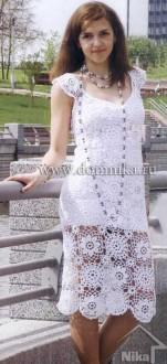 Платье из круговых мотивов