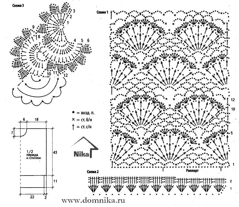 Рисунки для вязания крючком со схемами 77