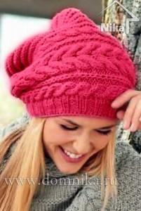 Вязание шапки бини