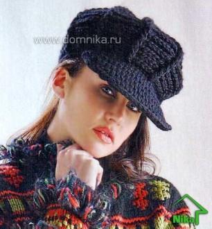 Вязание кепки с козырьком