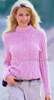 Пуловер с рукавами в резинку