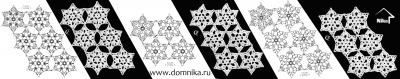 Ажурные узоры из шестиугольных розеток