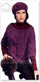 Вязаный женский жакет с укороченными рукавами