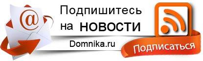 Подпишись на новости Domnika.ru по Email