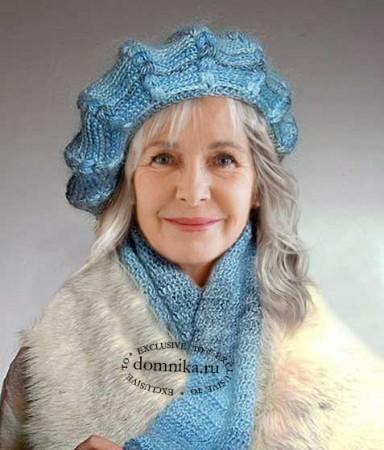 Вязаные шапки для женщин среднего возраста
