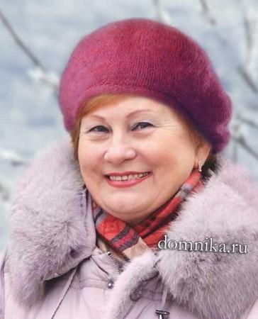 Простая зимняя шапка для пожилых