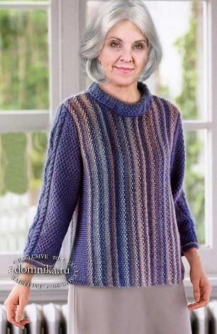 Стильный джемпер для дам пожилого возраста