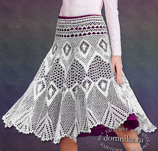 Вязаные юбки для женщин со схемами