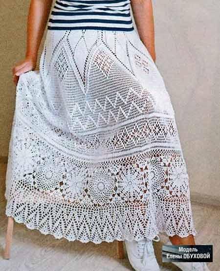 Вяжем крючком летнюю юбку