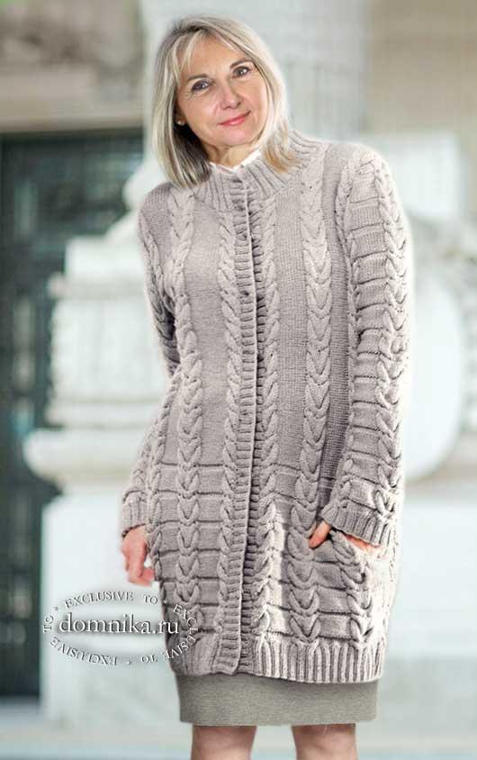 Кардиганы и пальто для пожилых женщин старше 60 лет