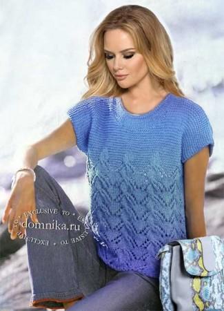 Вязание спицами: стильные кофточки для полных