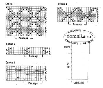 Стильная кофточка 56 размера схемы вязания