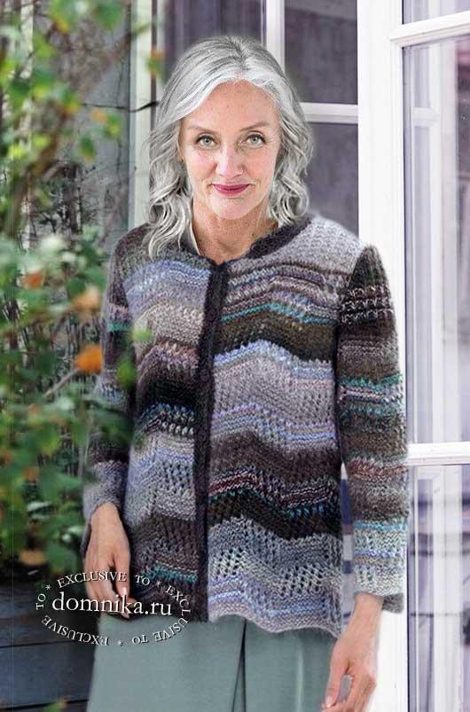 Вязание кофты для пожилых женщин