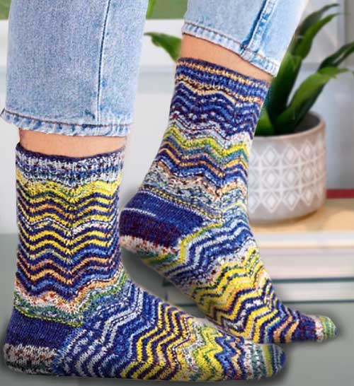 Вяжем спицами носки