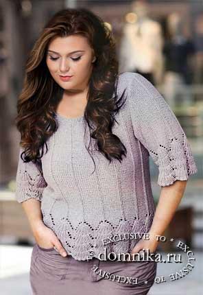 стильные женские пуловеры большого размера