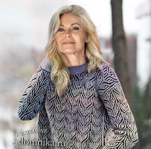 Модные пуловеры для пожилых схемы вязания