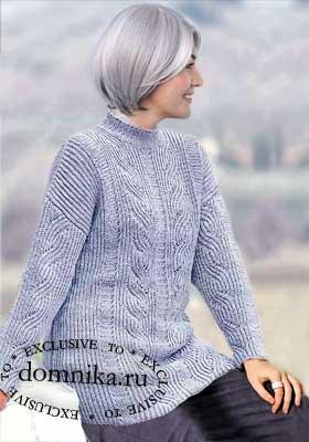 Стильный пуловер для пожилых женщин
