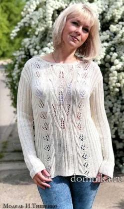 pulover-s-listjami