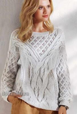 zhenskij-pulover-s-kosami