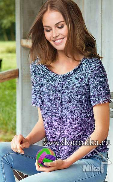 вязание пуловеров спицами
