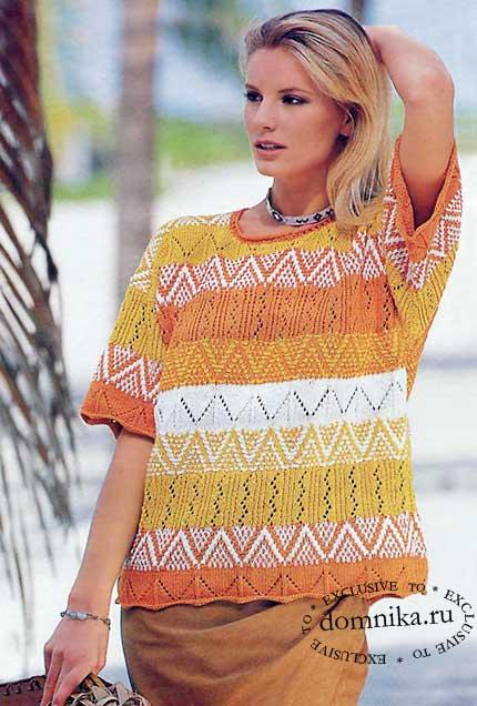 zhenskij-pulover-v-polosku