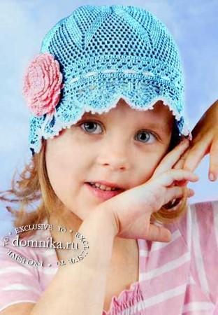 Детские летние шапочки крючком