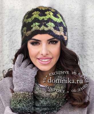 шапочка для женщин вязание крючком