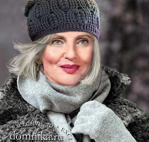Зимние шапки для пожилых женщин схемы вязания