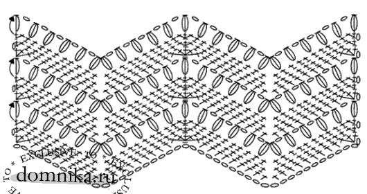 Вяжем шапочку крючком схема узора зигзаг