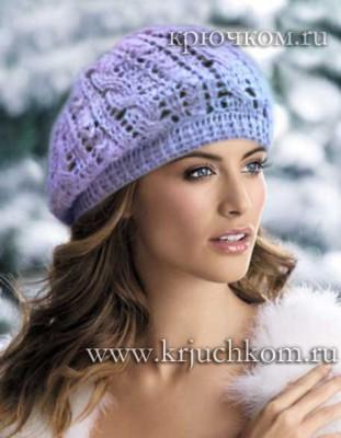 Модные модели вязаных шапок для женщин