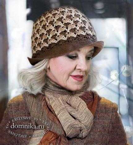 вязаная шапка для женщин старше 60